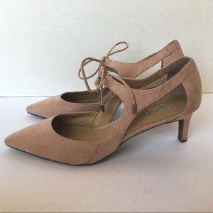 Frankco Sarto pink point toe kitten heels 8.5